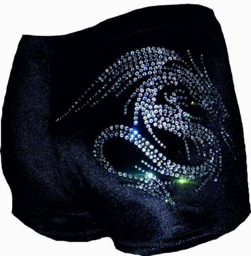 NUOVO LILLA Lizard VELOUR Hipster Da Ginnastica Danza Shorts leotard DRAGON