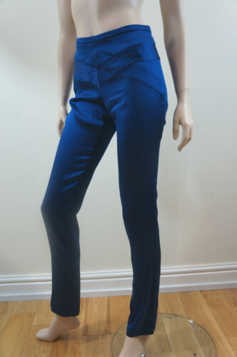 Azul noche seda Pantalones En mixtos de Blue Clemens Eu38 Uk10 August de Royal fR8ZZq