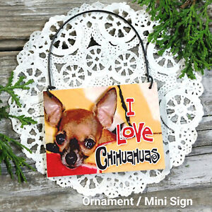 DecoWord-Mini-Sign-Wood-Ornament-CHIHUAHUA-DOG-DECOR-Gift-Everyday-Decor-New-USA