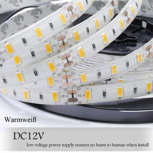 5m 2835 SMD LED Warmweiß Kaltweiß Strip Band Streifen Leiste Netzteil Dimmar 12V