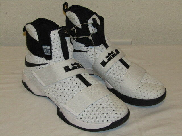 Nike Lebron LBJ Soldier Soldier Soldier 10 White Black Hi Top 856489 100 Mens Basketball SZ 17 1318ef