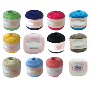 MERCERIZED-COTTON-CORD-THREAD-YARN-EMBROIDERY-CROCHET-KNITTING-LACE-JEWELRY-POUR