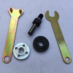 M10-Drill-Angle-Grinder-Mandrel-Adapter-Disc-Holder-Kit-Spanner-Set-Hole