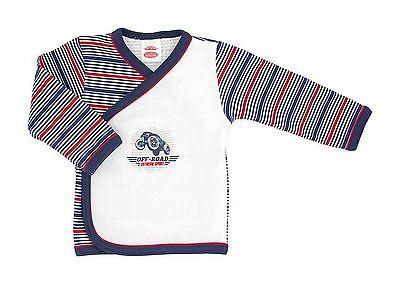 """Baby Shirt /""""Off Road/"""" Wickelshirt Babyhemdchen für Neugeborene Gr 68"""