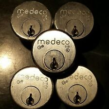 Medeco 51S 6-pin biaxial mortise cylinder lot of five (5)