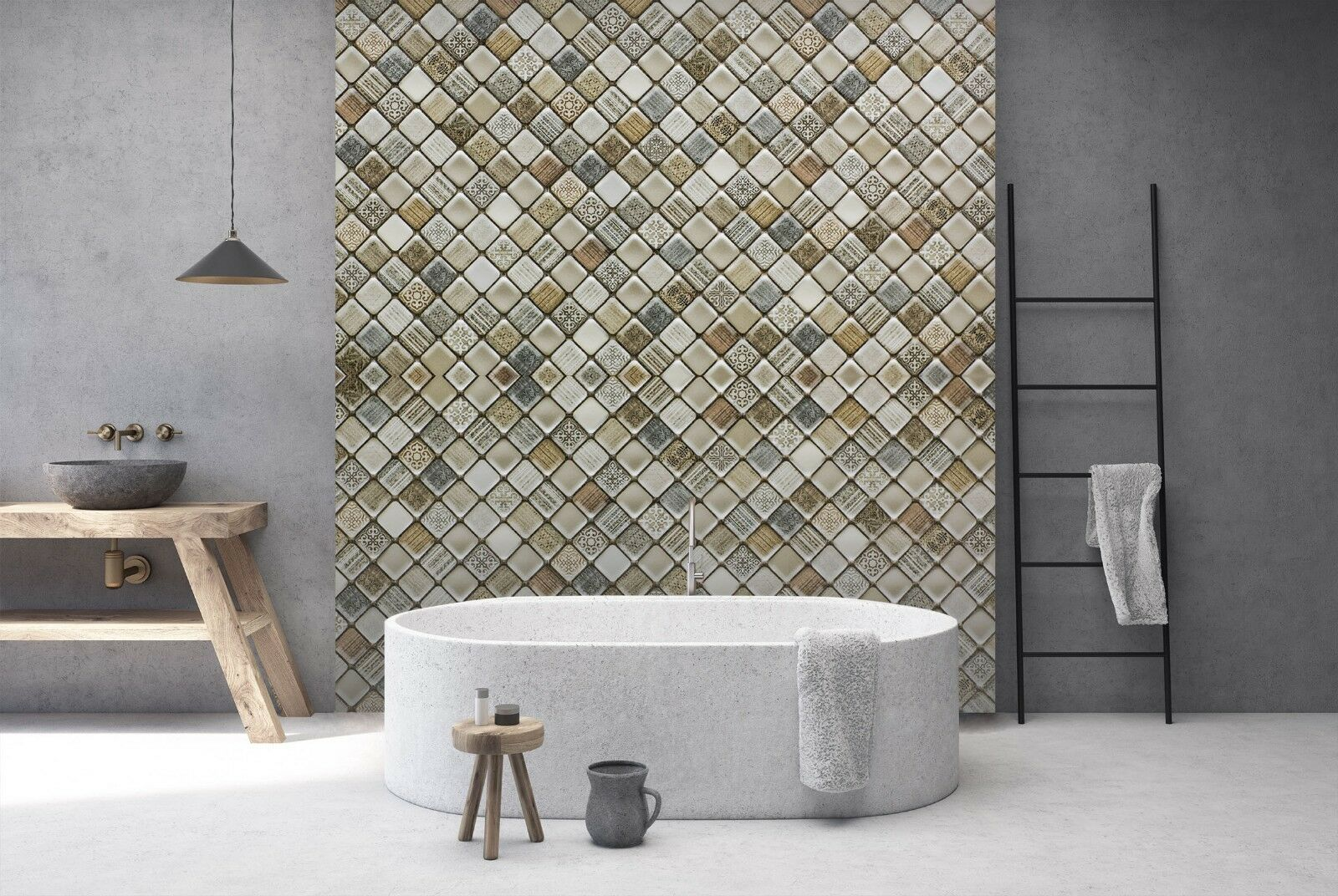 3D Floral Stone Sort 2 Texture Tiles Marble Wall Paper Decal Wallpaper Mural AJ