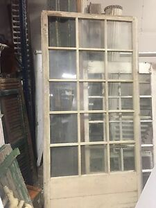 "panes 8"" x 10"" MASSIVE factory window frame c1890 OLD gLASS 70"" x 35"" x 1.5"""