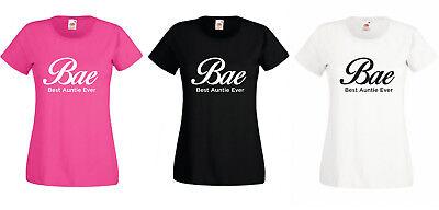 Bae Best Auntie Ever T-shirt Womens Fun Gift For Her Birthday Christmas Xs-xxl Gutes Renommee Auf Der Ganzen Welt