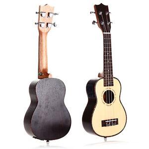 "21"" 53cm 15 Frets Electric Soprano Ukulele Uku Hawaiian Guitar with EQ Pickup"
