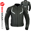miniature 11 - Leather Motorbike Motorcycle Jacket With CE Armour Sports Racing Biker Thermal