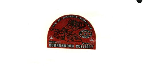 1 NICE  AUSTRALIA JOY COAL MINING STICKER # 837