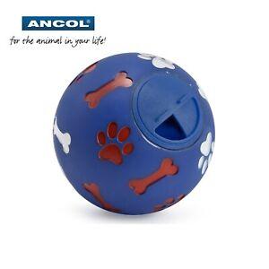 Ancol-Perro-Cachorro-Tratar-Dispensador-Bola-de-Juguete-Entrenamiento-Ejercicio