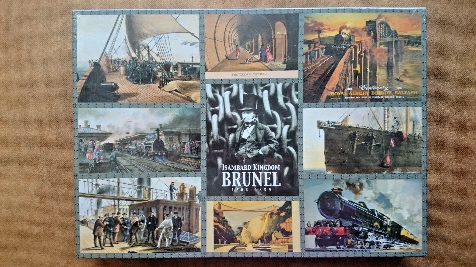 Isambard Kingdom Brunel 1806-1859 1000 iece  Jigsaw By Gibsons Gibsons Gibsons (NEW and SEALED) dad83d