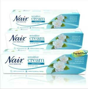 3 X Nair Sensitive Hair Removal Cream With Camellia 80ml For All