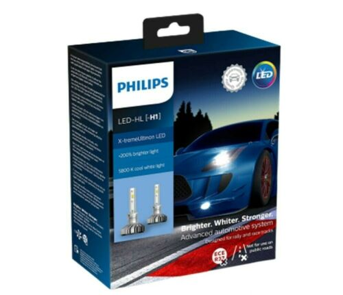 200/% Leuchttürme Auto Philips X-Tremeultinon LED 2 Glühbirnen LED H1 5800K