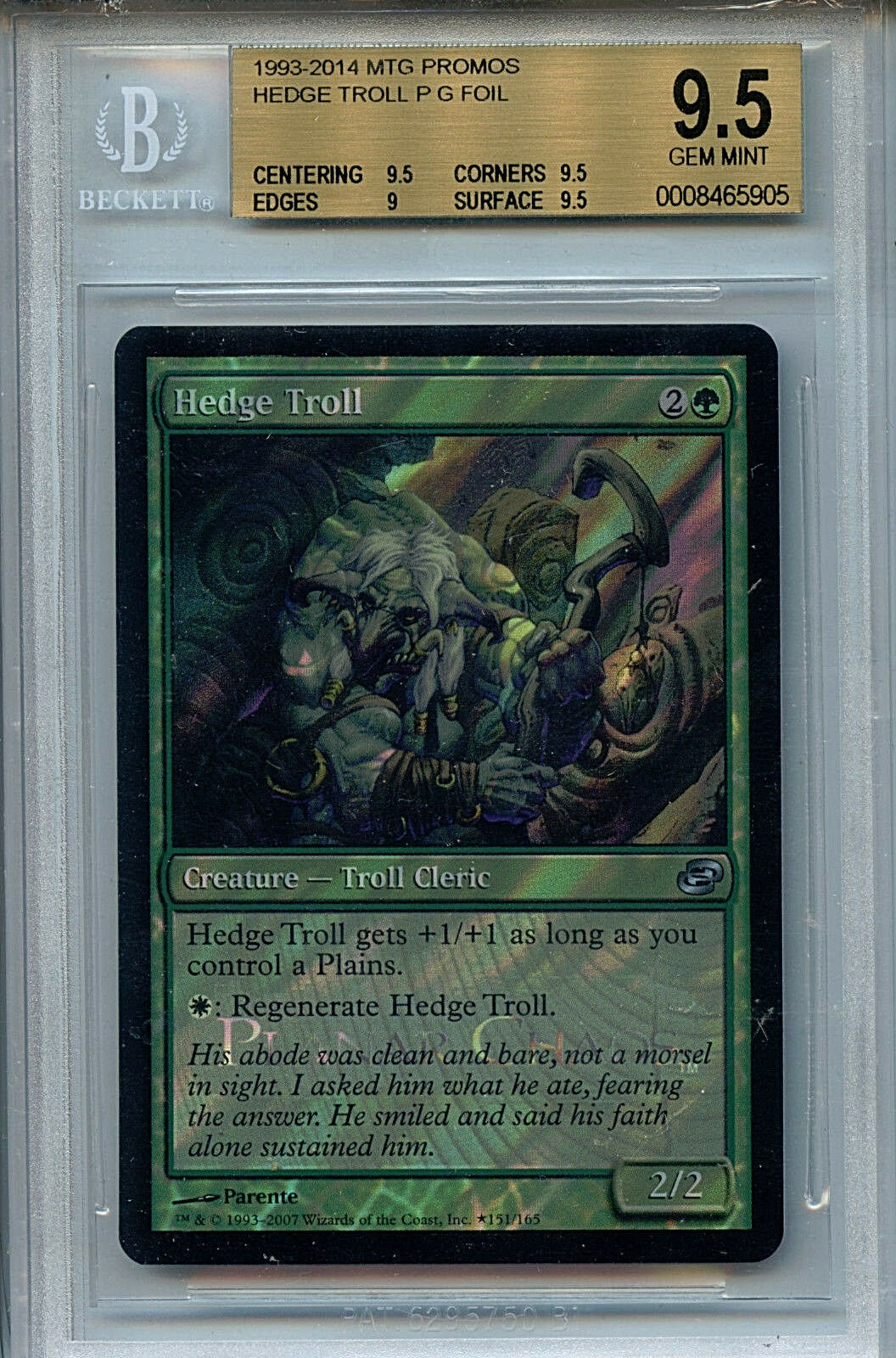 Mtg hedge - troll bgs 9,5 2006 spieler promos 5905 amricons