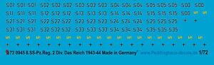 Peddinghaus-Decals 1/72 0945 8.ss Pz. Reg2 La Imperio Agosto 1943-April 44
