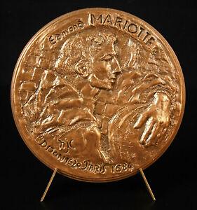 Medal ' Abbot Edme Mariotte Physics Experimental Hugo Huguette Jeanne Cleis