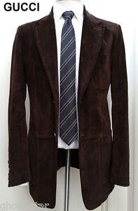 b9700c516 Gucci Chaqueta blazer abrigo deportivo de cuero de gamuza Traje ...