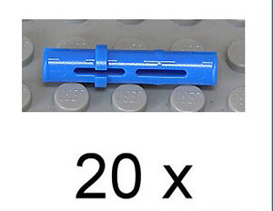 LEGO-Technik-20-x-Technik-Pin-lang-blau-Blue-Pin-Long-6558-NEUWARE