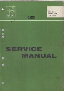 volvo amazon p1800 coupe front axle steering original factory rh ebay co uk 97 Volvo 960 Repair Manual 97 Volvo 960 Repair Manual