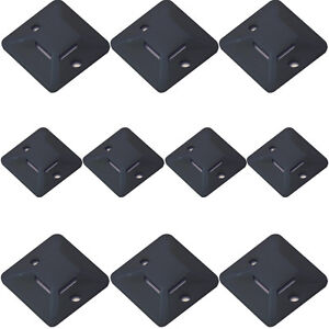 c324d988366b 10x – Black Plastic Cable Tie Bases -28x5mm-Sticky Back Adhesive ...