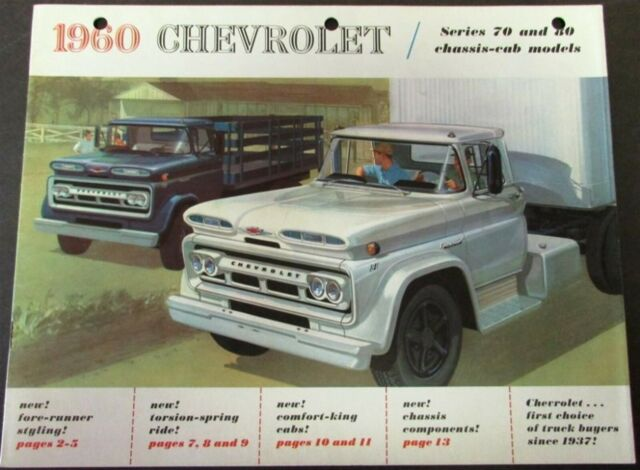 1960 Chevrolet Truck Series 70 80 Chassis Cab Sales Brochure Original