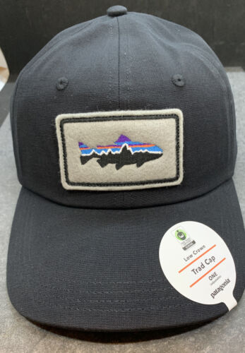Patagonia Low Crown Fitz Roy Trout Patch Trad Cap OSFA Classic Black Adjustable