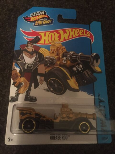"## 2015 Hot Wheels HTF ""Grease Rod"" Mint On Card##"