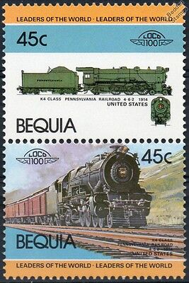 1914 PR Class K4 4-6-2 (Pennsylvania Railroad) Train Stamps / LOCO 100