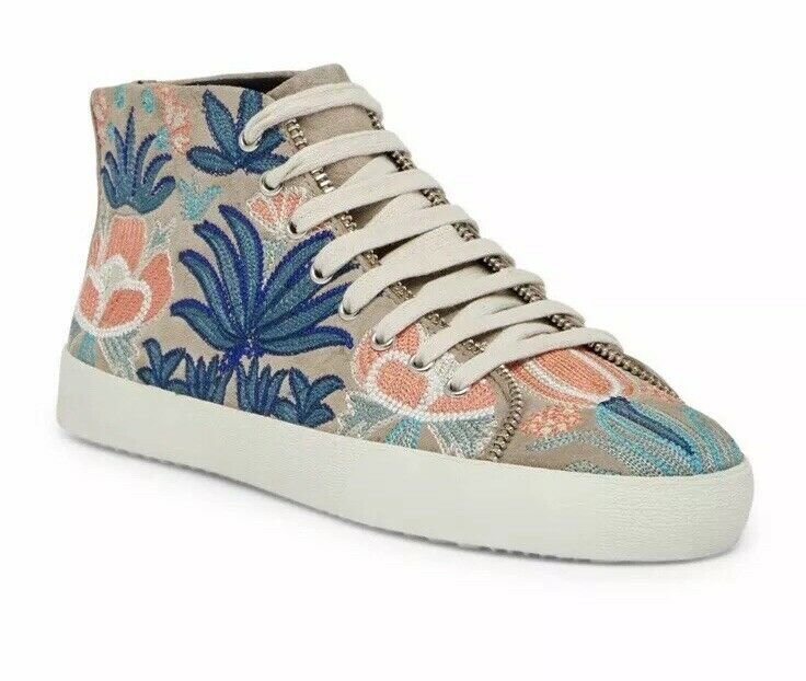 Rebecca Minkoff Minkoff Minkoff Zaina damen Embroiderot Turnschuhe Sand Größe 10.5 schuhe NEW Ivory d89d33