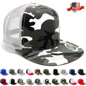 Trucker-Hat-Mesh-Snapback-Hats-for-Men-Adjustable-Size-Flat-Bill-Baseball-Cap