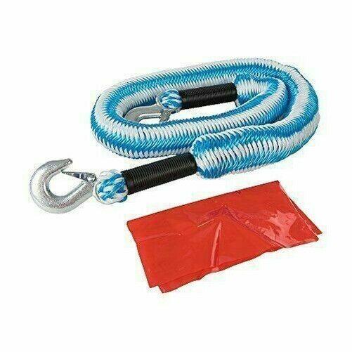Silverline 443621 Elástico Cuerda de Remolque 4 toneladas de 4 M x 50 mm