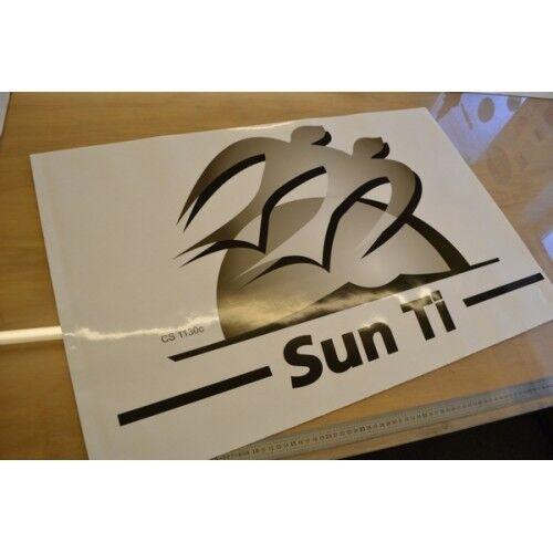 Knaus Sun Ti Autocaravana Individual izquierda//derecha que enfrentan Gráfico Pegatina Calcomanía logotipo