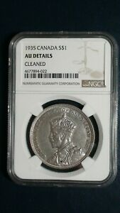 1935-Canada-Silver-Dollar-NGC-AU-BETTER-DATE-1-COIN-Auction-Starts-At-99-Cents