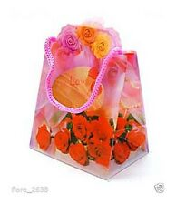 """Boîte cadeau pliable """"LOVE"""" écrin de qualité Rose, Rouge, NEUF, bijoux fantaisie"""