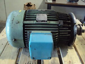 Westinghouse 20 hp ac motor frame 256tc volts 230 460 3 for 20 hp 3 phase motor