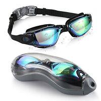 Mirrored Swimming Goggles 2.0 Leaking Anti Fog Protection Triathlon Swim Goggles
