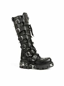 New-Rock-Stiefel-Boot-161-Daemon-Nieten-Schnallen-5045