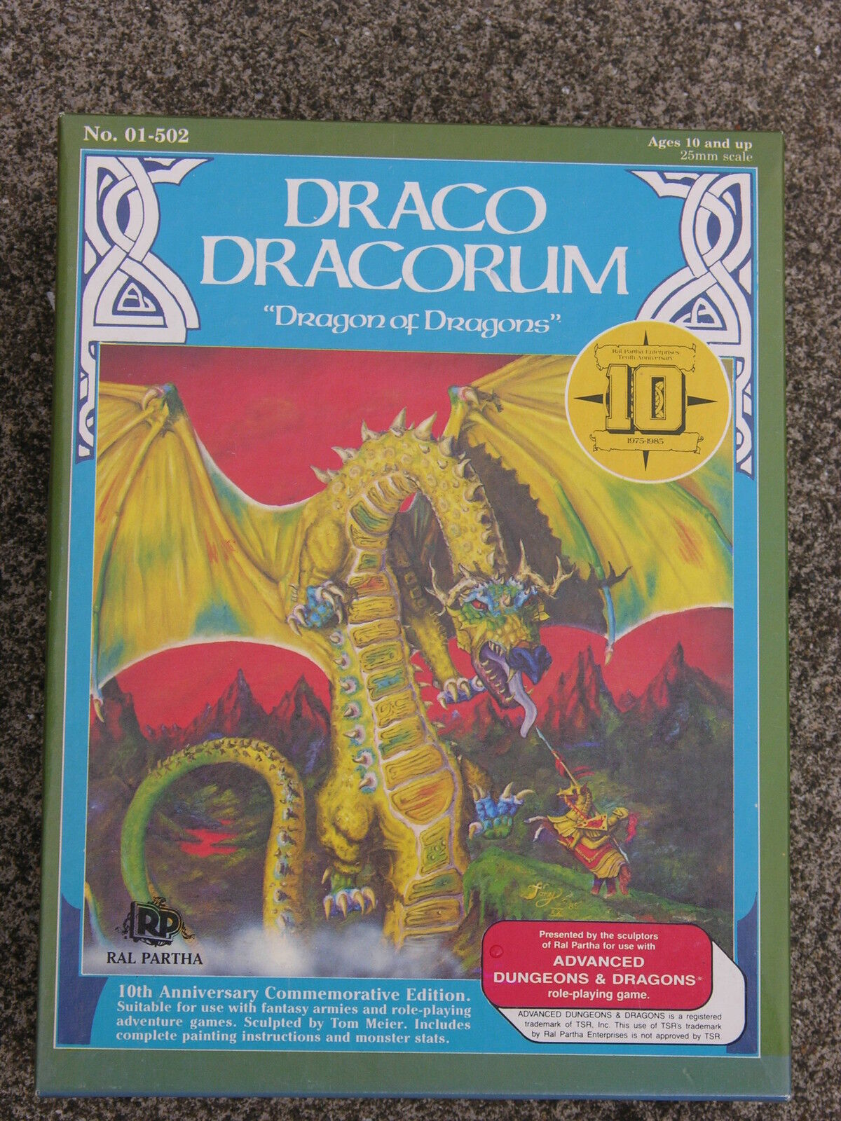DRACO DRACORUM   RAL PARTHA MINIATURES  LIMITED EDITION  01-502