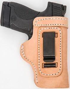 LT TAN CUSTOM IWB Leather Gun Holster U CHOOSE:rh,lh-laser-slide-cant-belt-mag