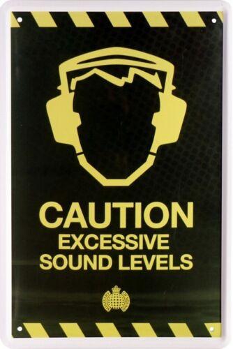 Excessive Sound Levels Blechschild 20 x 30 Retro Blech 667 Caution