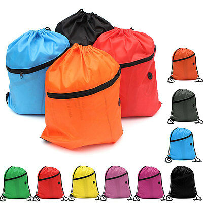 Kids' Clothes Shoes Bag School Drawstring Book Sport Gym bags PE Dance Backpacks