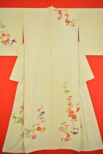Vintage-Japanese-Silk-Antique-BORO-KIMONO-Kusakizome-Dyde-Textile-VJ50-780