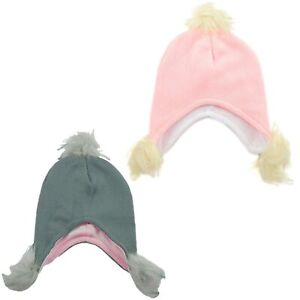 Baby Hat With Ear Flaps Beanie Cap Boy Girl Warm Winter Fleece Animals 6-18 Mth