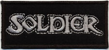 SOLDIER - Logo Patch Embroidered Aufnäher gestickt NWOBHM
