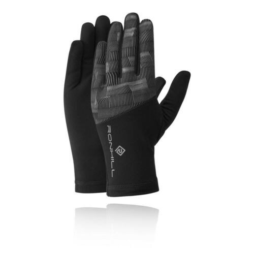 Black Sports Running Breathable Reflective RonHill Unisex Afterlight Gloves
