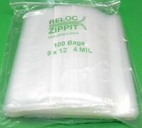100 Ziplock Bags 9 X 12 Heavy Duty 4mil 9 X 12 Large Thick Clear Reclosable