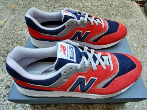 New Balance 997H Men/'s Athletic Shoes CM997HBJ Red//Navy//Gray//White Size 10.5