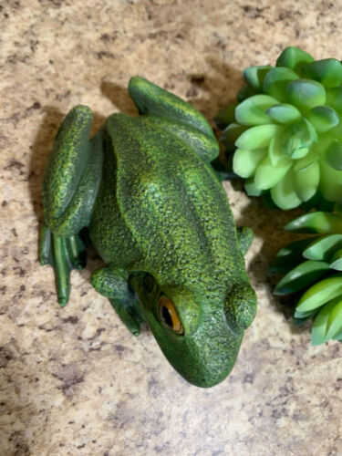 Garden Resin Porch Frog Two Tone Green with Real Look Body HL2